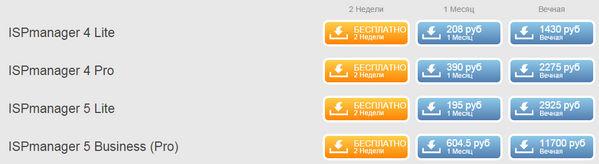 Цены на лицензии ISPmanager в systemintegra.ru